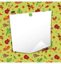 mexican note paper vector image vector image