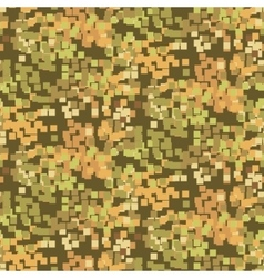 Pixelated sand camouflage seamless pattern vector image