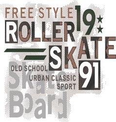 Skateboard Text Design vector image