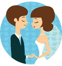 Sweet wedding vector image