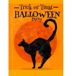 Trick or Treat Halloween party poster with text vector image