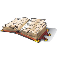 ancient opened book vector image