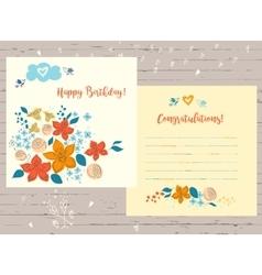 Congratulation happy birthday card for vector