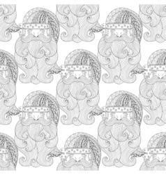 Fancy Santa seamless vector image vector image