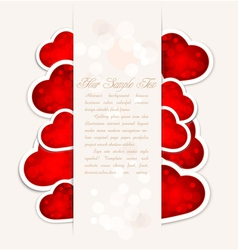festive valentines day with hearts vector image vector image