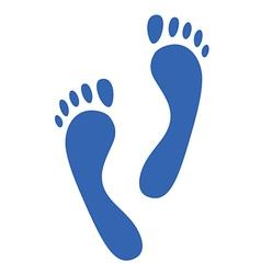 footprints vector image vector image