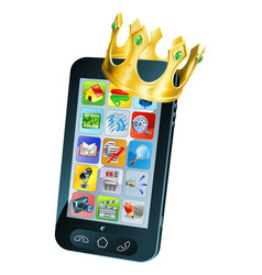 mobile phone king vector image vector image