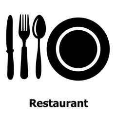 restaurant icon simple black style vector image vector image