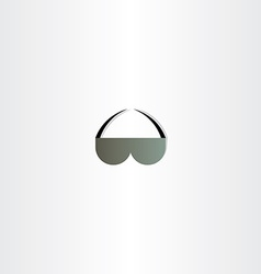 sunglasses icon abstract design vector image vector image