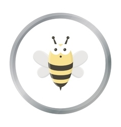 Bee cartoon icon for web and mobile vector image