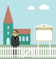 church notice board vector image vector image