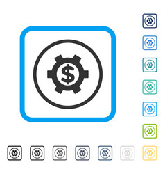 financial settings framed icon vector image