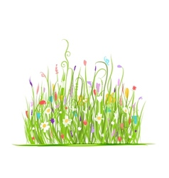 Green meadow for your design vector image vector image