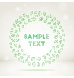 Ornamental leaf frame vector image