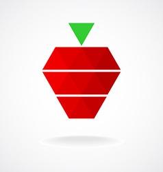 Stylized geometric strawberry logo template vector image