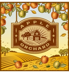 Apple Orchard vector image vector image