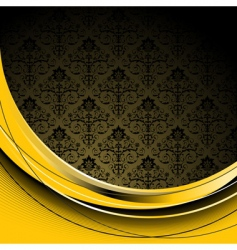 black and yellow background vector image vector image