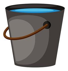 Bucket full of water vector image vector image
