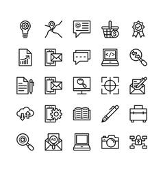 Digital Marketing Icons 6 vector image vector image