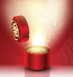 Exploding gift box vector image vector image