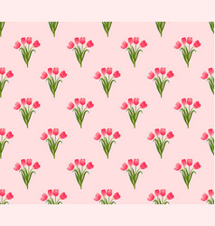 pink tulip on pink background vector image vector image