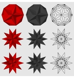 Set of three-dimensional geometric figures vector image