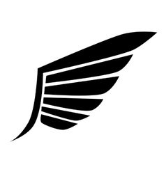 wing modern stripes icon graphic vector image