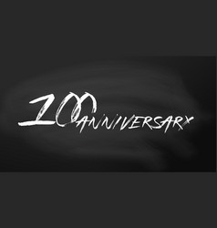 100 anniversary logo concept 100th years birthday vector image
