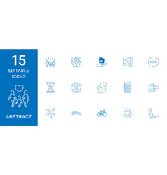15 abstract icons vector