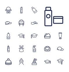 22 cap icons vector