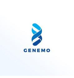 Abstract dna genome logo design symbol icon vector