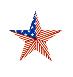 american star folded from american flag vector image