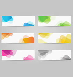banner set with colorful blobs vector image