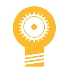 bulb light business isolated icon vector image