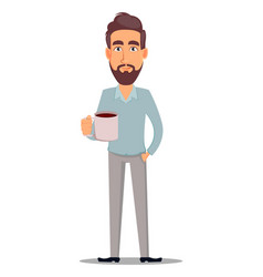 business man in casual clothes vector image