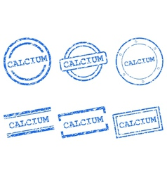 Calcium stamps vector image vector image