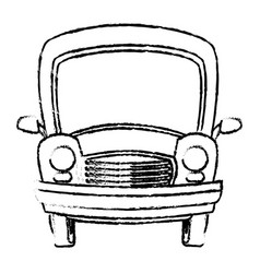 car vintage transport travel vacation sketch vector image