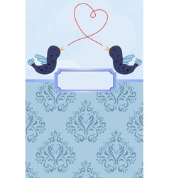 Card with birds vector