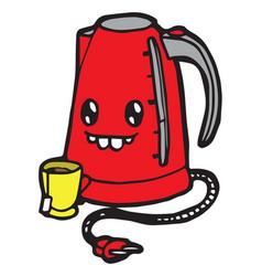 Cartoon kettle vector