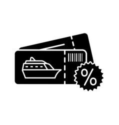 Cheap cruise deal glyph icon vector