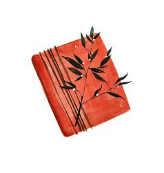 christmas watercolor gift box box is vector image