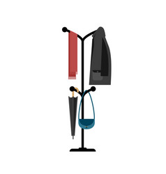 Clothes hanger with jacket vector