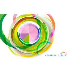 Colorful circle on a white vector