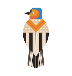 Common chaffinch bird geometric icon in flat vector