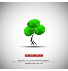 Conceptual polygonal tree vector image