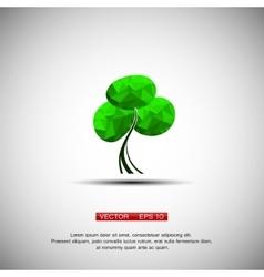 Conceptual polygonal tree vector image vector image