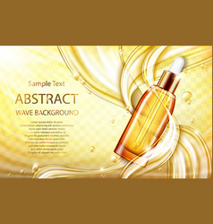 cosmetic skin care oil or serum with splashes vector image