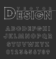 design alphabet font template letters and numbers vector image