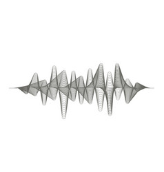 digital sound wave audio equalizer vector image