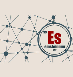 einsteinium chemical element vector image